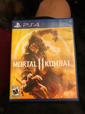 Mortal Kombat 11 PS4 game in great shape works great for Sale in Tarpon Springs, FL