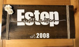 Handmade wood signs personalized for Sale in Barboursville, WV