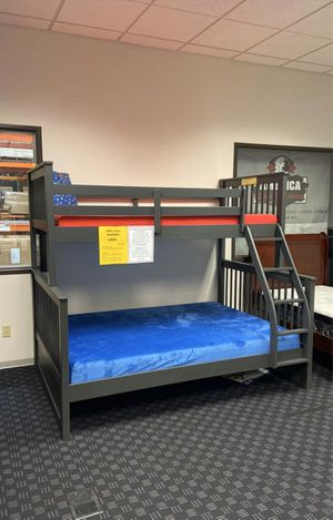 New In Box Bunk Bed in White or Grey/ Twin Mattresses starting at $99 for Sale in Vancouver, WA