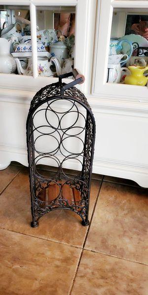 Metal wine rack $15 for Sale in Modesto, CA