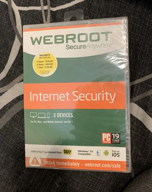 Webroot Secure anywhere Internet Security *Brand New* for Sale in Andover, MA