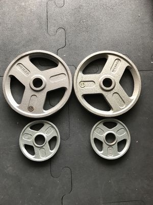Olympic weights (2x35s 2x5s) for $50 Firm!!! for Sale in Burbank, CA