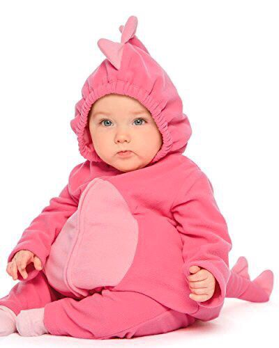 Carter's baby girls pink dinosaur costume💕NEW WITH TAGS