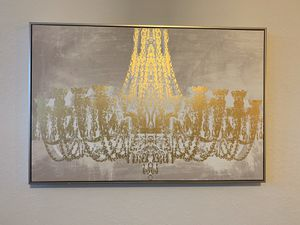 Gold chandelier metallic wall art for Sale in Dunedin, FL