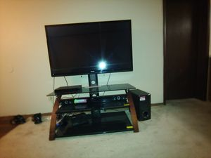 "55"" Toshiba flat screen with TV stand and LG soundbar and subwoofer for Sale in Pinellas Park, FL"