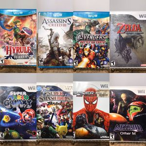 Nintendo Wii/ Nintendo Wii U Games, Lots of Great Titles (Super Smash Bros Brawl, Zelda, Simpsoms, Spiderman) 🕹❄️🎮 for Sale in Concord, CA