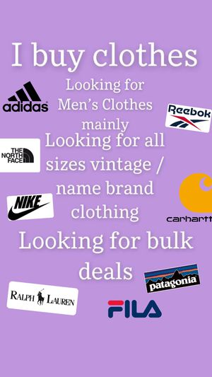 I buy clothes for Sale in Dallas, TX