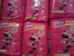 6 HUGGIES PULL UPS 4T-5T for Sale in Orlando, FL