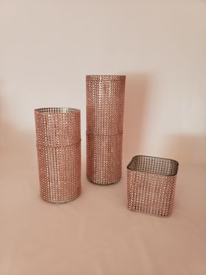 Rose gold bling wrap vases for Sale in Bexley, OH