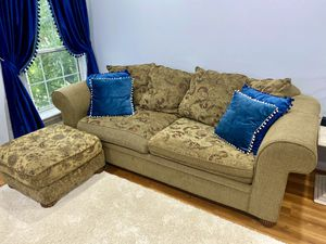 Beautiful Crate & Barrel Sofa, Loveseat and Ottoman! Great Condition! for Sale in Alexandria, VA