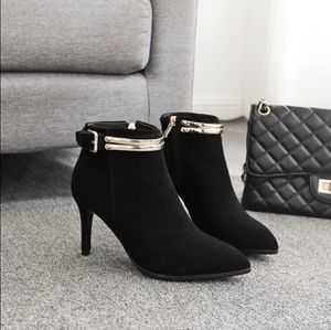 NEW Women's Black Suede Pointy Toe Ankle Boots for Sale in Brooklyn, NY