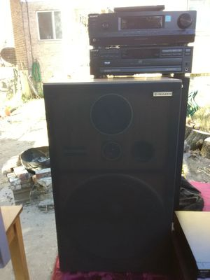 300 Watts Sony receiver with remote control and 5 disc CD player plus Pioneer loudspeakers with 15 inch woofers for Sale in Washington, DC