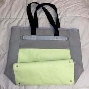 Lululemon Large Zen Tote Bag Green Grey for Sale in Corona, CA