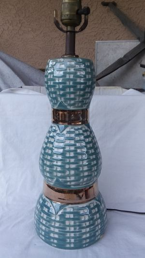 Turquoise Blue Table Lamp Midcentury Modern for Sale in Phoenix, AZ