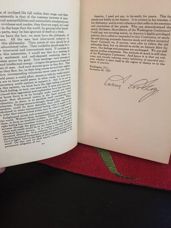 Book vintage , autograph Calvin Coolidge