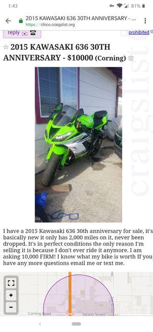 2015 Kawasaki 636 30th anniversary for Sale in Corning, CA