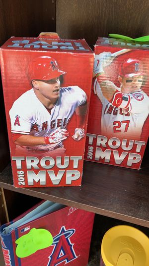 Angels mvp trout bobble heads for Sale in Menifee, CA