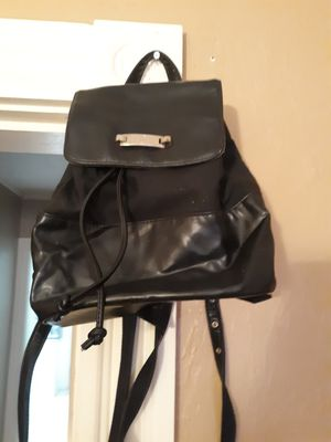 Liz Claiborne black leather backpack for Sale in Sturbridge, MA