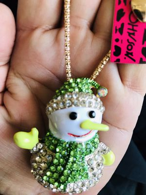 Betsey Johnson snowman 27 inch necklace/brooch ⛄️ ⛄️⛄️⛄️$10 $10 $10 for Sale in Las Vegas, NV