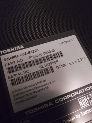 15 inch toshiba laptop for Sale in Sachse, TX