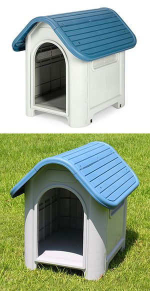 "Brand New $45 Plastic Dog House Small/Medium Pet Indoor Outdoor All Weather Shelter Cage Kennel 30x23x26"" for Sale in Pico Rivera, CA"