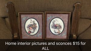 Home interior pictures and sconces for Sale in Ball, LA