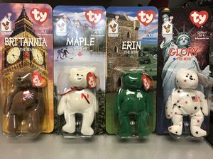 McDonalds International Bears, beanie babies collection, 1997 for Sale in Farmers Branch, TX
