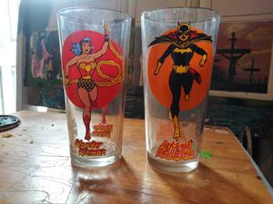 Wonder Woman and Batman girl Pepsi glass for Sale in Las Vegas, NV