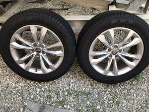 2017 Audi rims 19 in with Pirelli Scorpion Verde run flats tires for Sale in Miami, FL