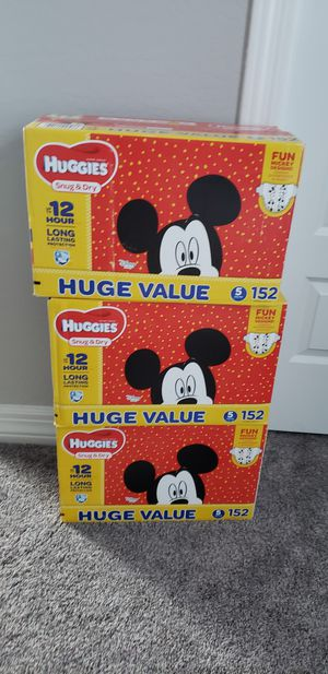 3 packs Size 5 diapers, $25 each. for Sale in Chandler, AZ