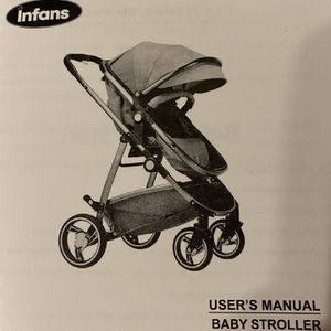 Infans Costway Baby Stroller NEW- Black And Gray for Sale in West Covina, CA