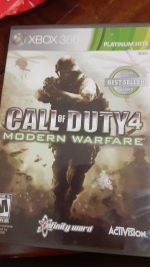 Call of duty modern warfare 4 xbox360 for Sale in Grand Saline, TX