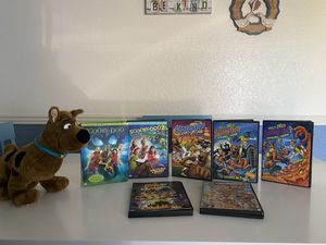 Scooby DVD movies 1&2 plus 5 more DVD & stuffed Scooby for Sale in Glendale, AZ