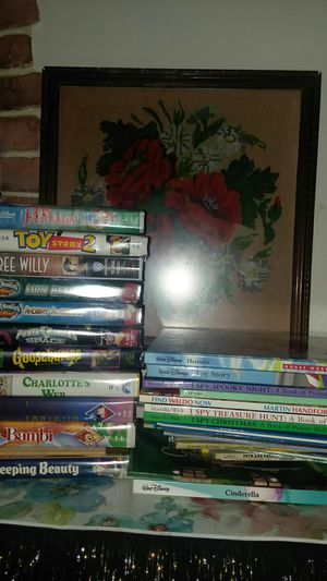 Disney vintage home video VHS Power Rangers Wild Force Fantasia Bambi Sleeping Beauty Plus Cinderella 102 Dalmatians reading Books Huge lot for Sale in Lakewood, CA