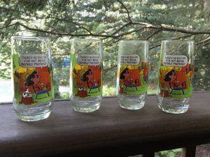 Charlie Brown Snoopy glassware - set of 4 for Sale in Harleysville, PA