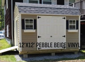 New 12' x 12' Pebble Beige Vinyl Gambrel Shed for Sale in Marblehead, MA