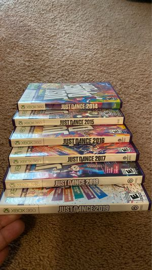 Entire Just Dance collection from 2014-2019. Xbox 360 Kinect games for Sale in San Diego, CA