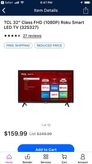 "TCL 32"" Roku LED smart tv for Sale in Springville, UT"
