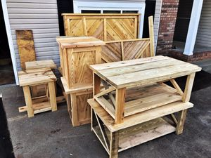 Coffee tables, end tables , bed frames. Get stained or painted whichever finish you'd like. for Sale in Clarksville, TN
