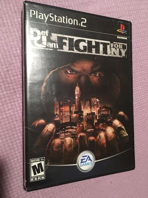 Def Jam fight for NY ps2 original box only no game for Sale in Fort Washington, MD