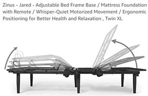 Zinus Jared Adjustable Bed Frame W/Remote TWIN XL for Sale in Canal Winchester, OH