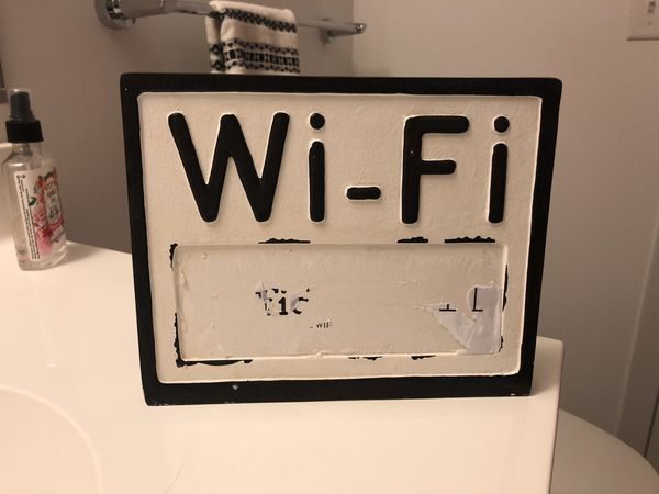FREE - Cute Wi-Fi Sign (For Pickup Only)