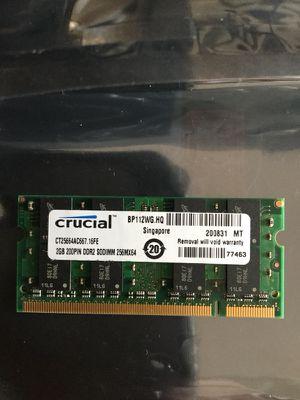 Crucial 2GB memory for Sale in Ashburn, VA