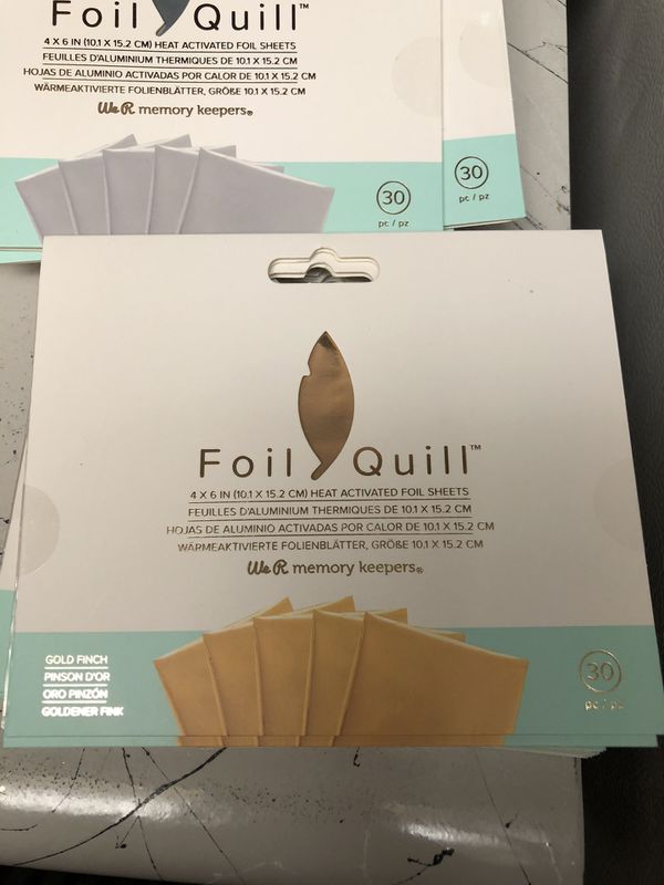 Foil quill heat foil sheets