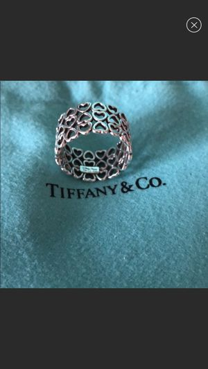 Tiffany and Co. size 5 ring authentic with receipt for Sale in Redlands, CA