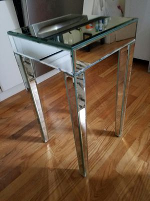 """14"""" x 14"""" x 25.5"""" Mirrored End Table for Sale in Brooklyn, NY"""
