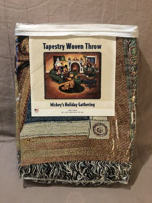 Hand made in the USA Mickey Mouse tapestry throw blanket for Sale in Vacaville, CA