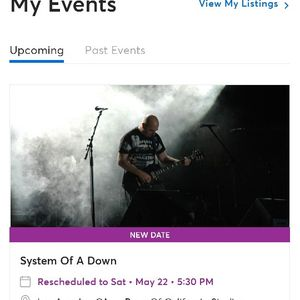 System Of A Down Tickets for Sale in Jurupa Valley, CA