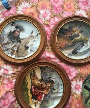 Vintage art on plates for Sale in Gardena, CA