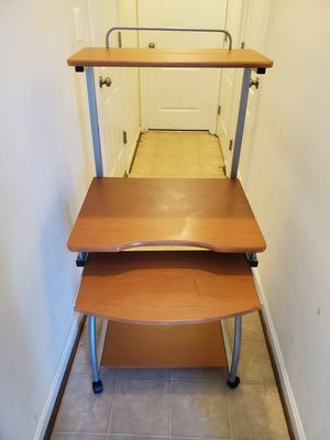 Mobile Computer Desk with Printer Self and Keyboard Tray. for Sale in Aldie, VA